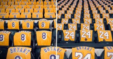 Ginásio dos Lakers distribuirá camisas em homenagem a Kobe Bryant
