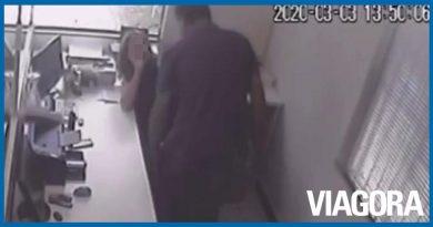 Mulher é agredida com chutes pelo ex marido no local de trabalho