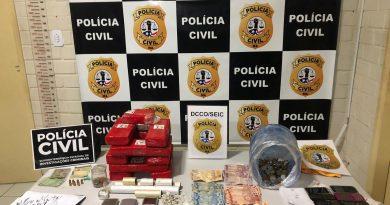 Polícia prende três pessoas com droga avaliada em R$ 10 mil em São Luís