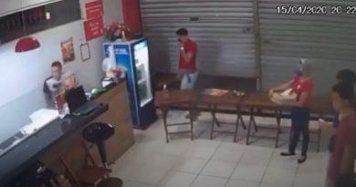 Polícia prende um dos suspeitos de participação em assalto à pizzaria