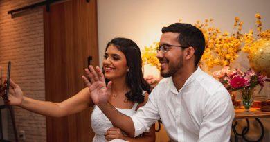 Casal de São Luís faz casamento on-line e transmissão é assistida por milhares