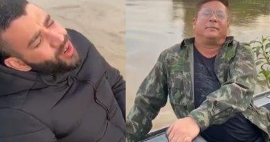 Gusttavo Lima e Leonardo furam isolamento e promovem pescaria com amigos no Pantanal