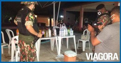 Polícia Militar acaba com festa clandestina na zona rural de Teresina