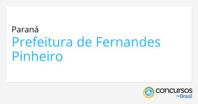 Concurso Prefeitura de Fernandes Pinheiro   PR: banca contratada