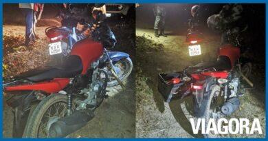 PM recupera duas motocicletas roubadas na estrada do Cerâmica Cil