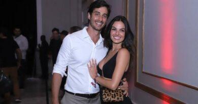 Após gravidez, Isis Valverde se joga com o marido em festa luxuosa no Rio