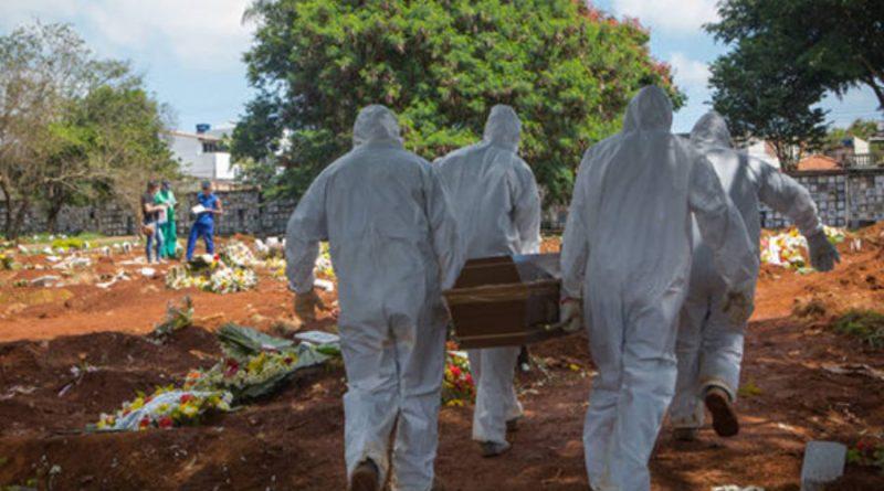 Brasil registra 1.215 novas mortes pela Covid 19 em 24 h e passa de 116 mil óbitos