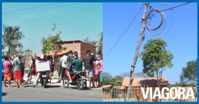 Moradores protestam contra corte de ligações clandestinas em Teresina