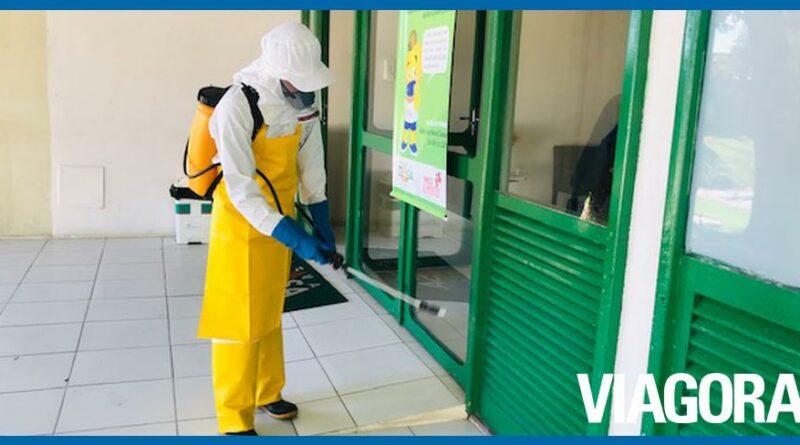 Sanitização de áreas do mercado Nova Ceasa é reforçada