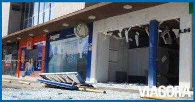 Vídeo mostra fuga de criminosos após assalto a posto da Caixa em Teresina