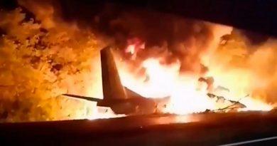 Avião militar despenha se no leste da Ucrânia