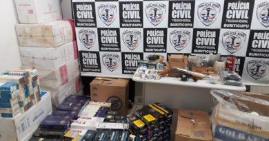 Polícia Civil apreende armas de fogo e mil maços de cigarro irregulares em Buriticupu